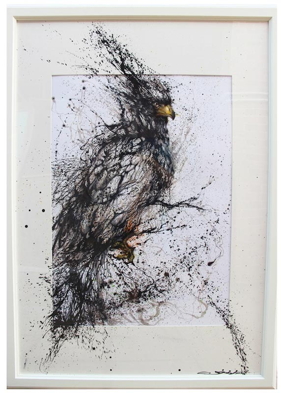 splatter paintings portraits hua tunan chen yingjie 10 One Line Portraits by Quibe