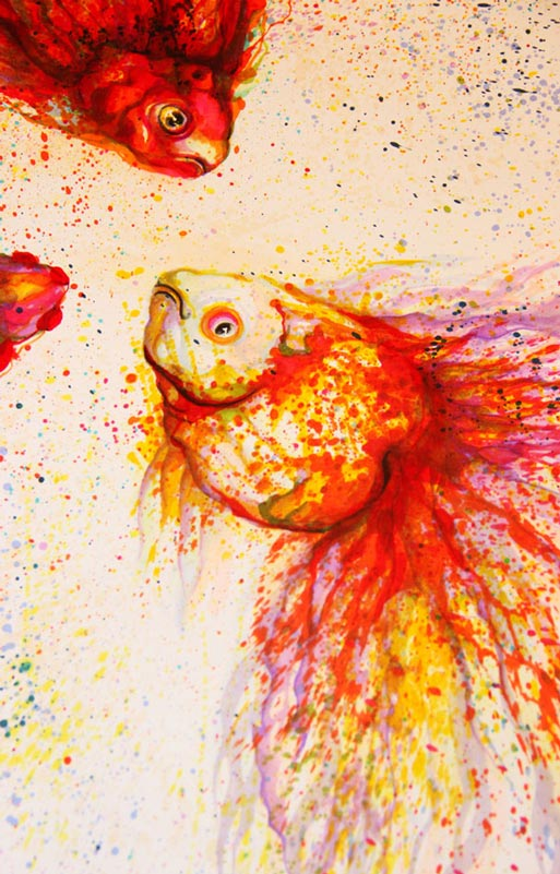 splatter paintings portraits hua tunan chen yingjie 12 Splatter Portraits by Hua Tunan