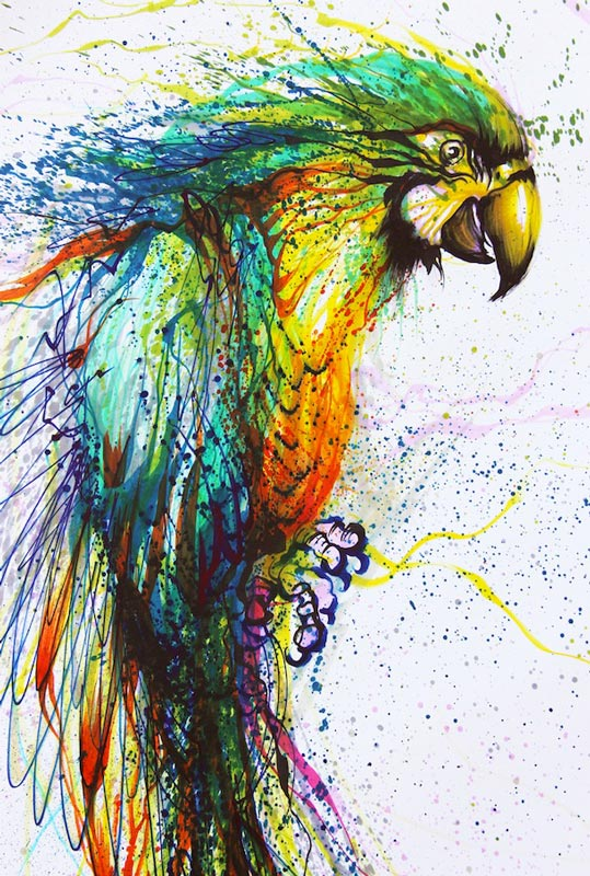 splatter paintings portraits hua tunan chen yingjie 15 Splatter Portraits by Hua Tunan