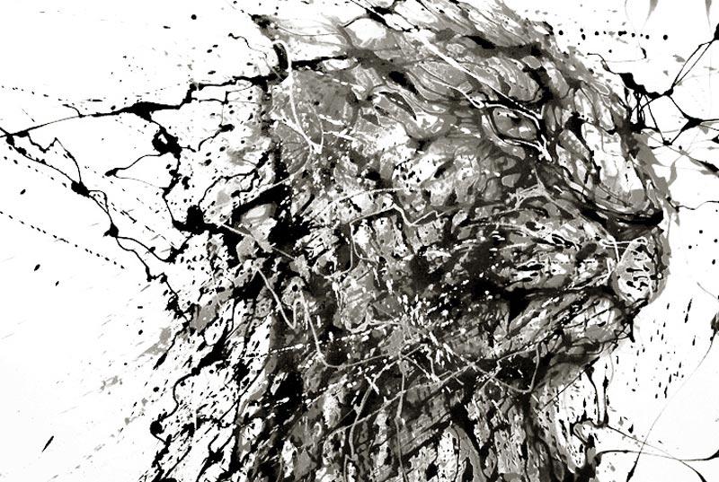 splatter paintings portraits hua tunan chen yingjie 2 Splatter Portraits by Hua Tunan