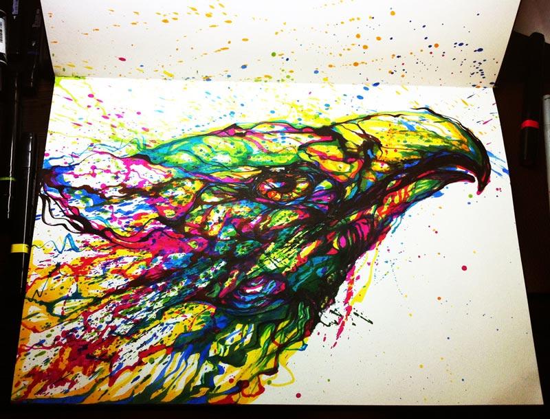 Famous Artist Paint Spatter Art
