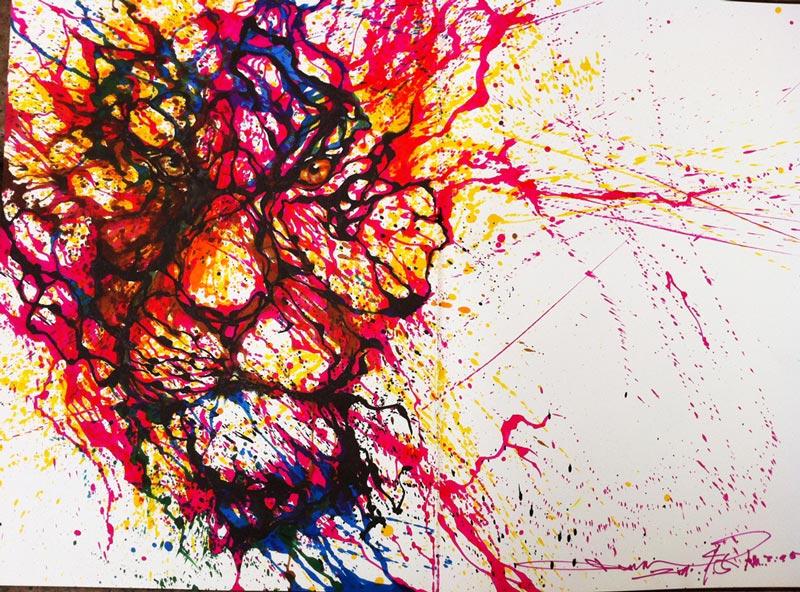splatter paintings portraits hua tunan chen yingjie 8 Splatter Portraits by Hua Tunan