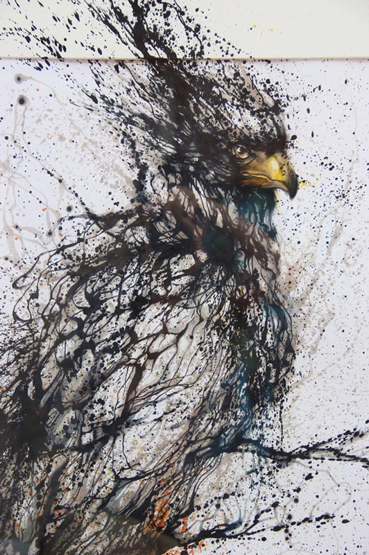 splatter paintings portraits hua tunan chen yingjie 9 Splatter Portraits by Hua Tunan