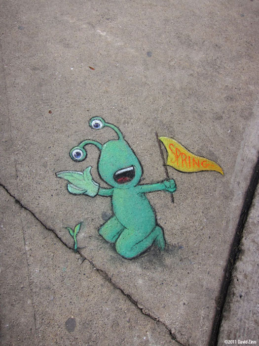 spring training by david zinn The Incredible 3D Chalk Art of David Zinn