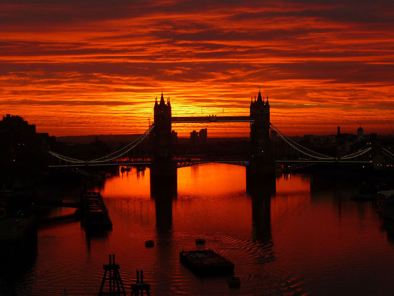 sunrise over tower bridge london england The Top 100 Pictures of the Day for 2012