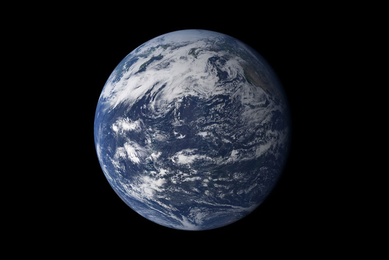 the blue water planet earth from space showing ocean Picture of the Day: The Water Planet