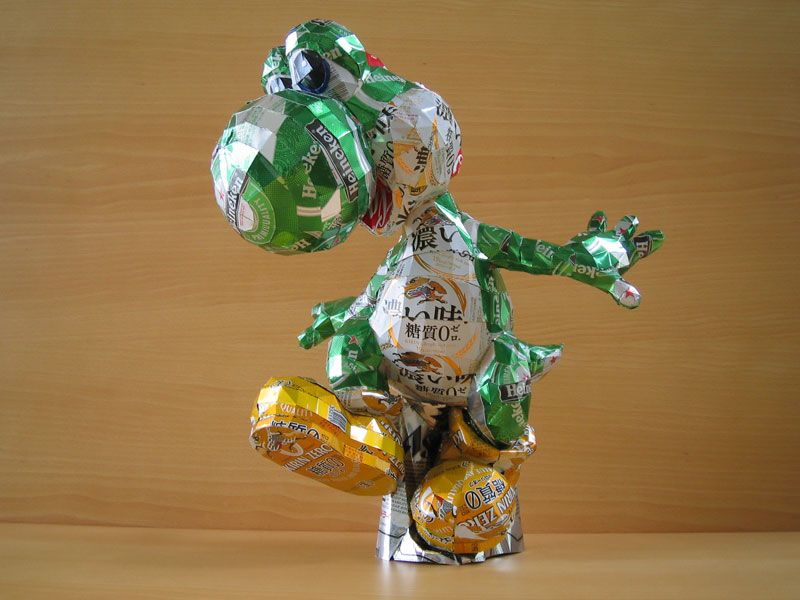 togi made from aluminum cans japanese artist makaon