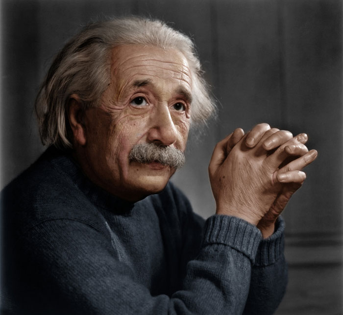 albert einstein colored photo Adding Color to Historic Photos [20 pics]