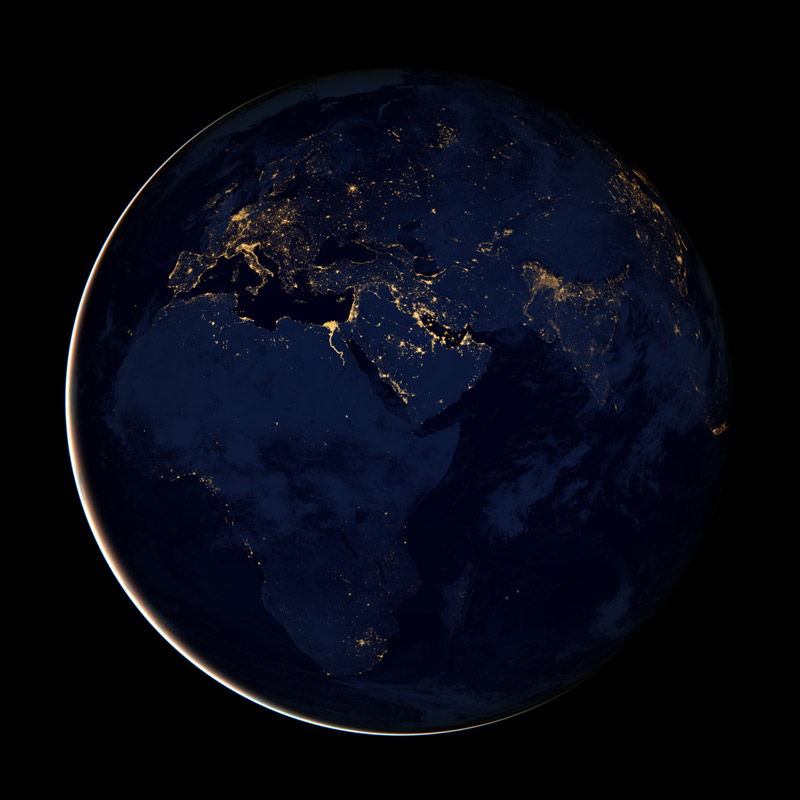 black dark marble nasa earth at night (3)