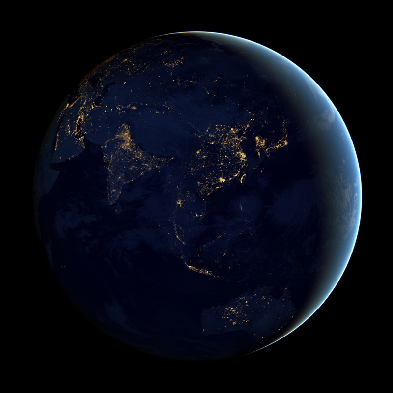 black dark marble nasa earth at night (4)
