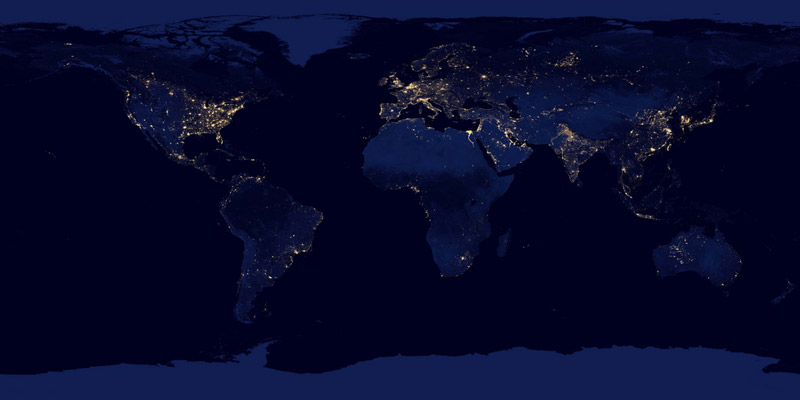 black dark marble nasa earth at night (6)