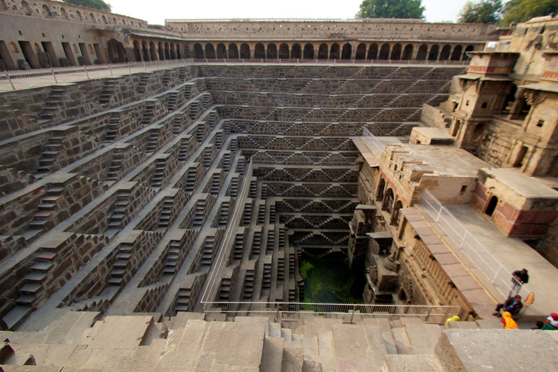 chand baori stepwell india The Famous Chand Baori Stepwell in India
