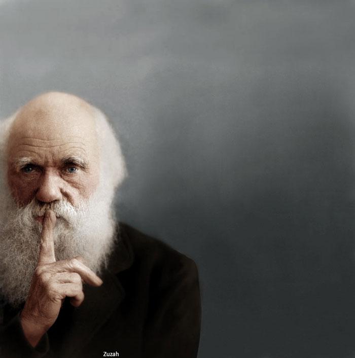 charles-darwin-colorized
