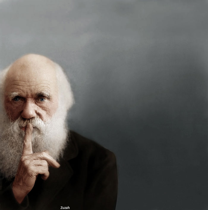 charles-darwin-colorized