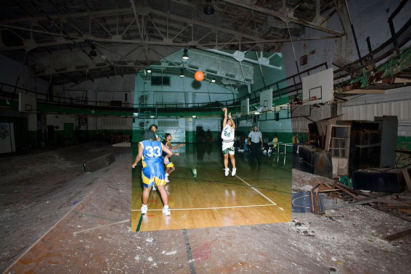 Now and Then: Abandoned School in Detroit