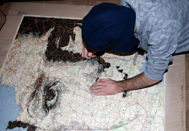 faces drawn onto maps by ed fairburn (1)