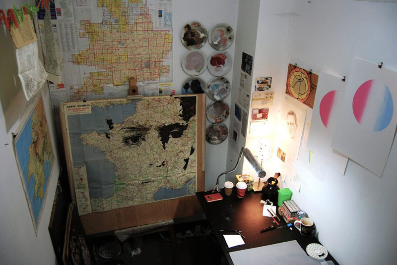 faces drawn onto maps by ed fairburn (2)