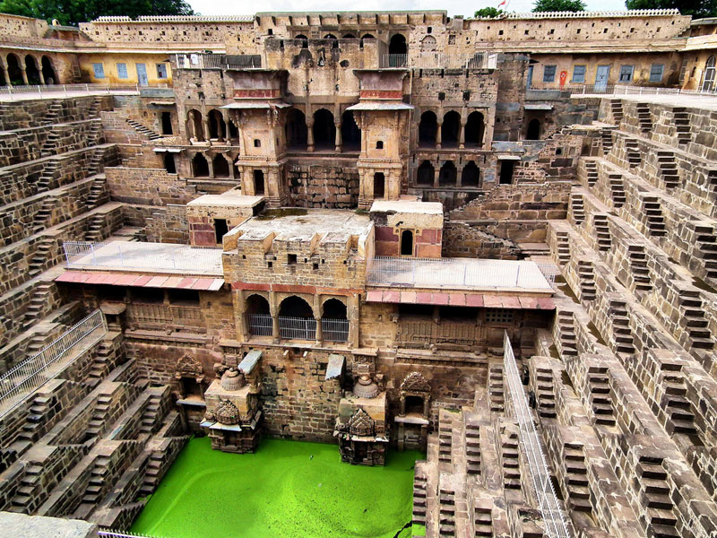 The Famous Chand Baori Stepwell in India