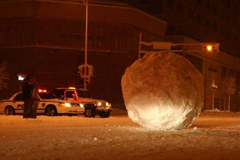 giant snowball rolled into the middle of the street madison wisconsin The Shirk Report   Volume 194
