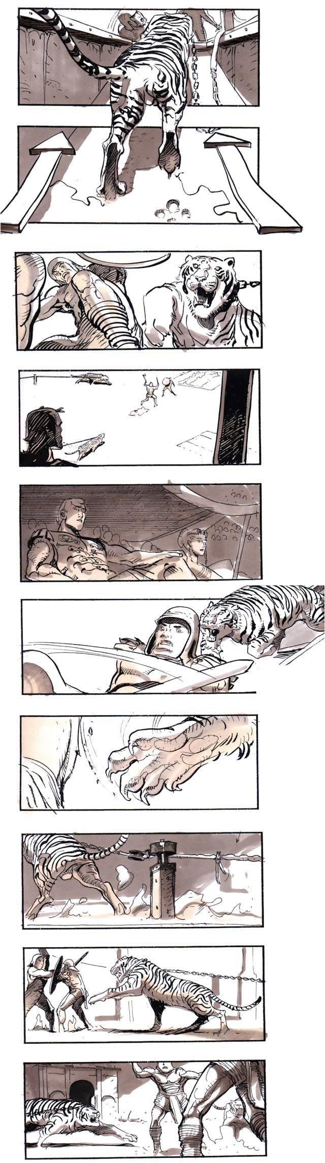 Gladiator Storyboard By Sylvain Despretz