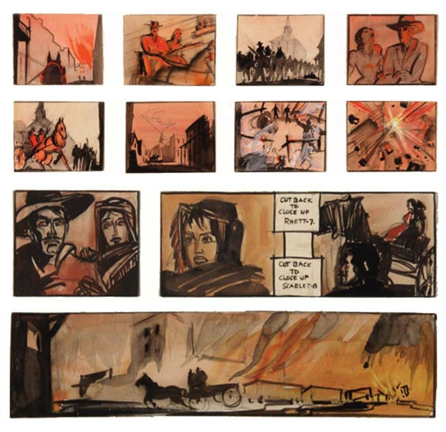 gone-with-the-wind-storyboard-William-Cameron-Menzies-1