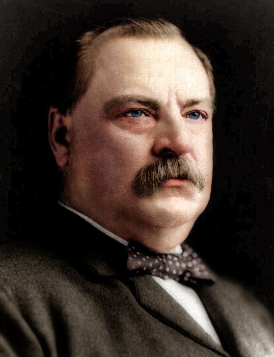 grover cleveland colorized Adding Color to Historic Photos [20 pics]