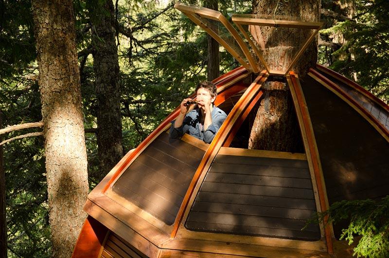 HemLoft secret treehouse hiding in the woods of whistler canada (13)