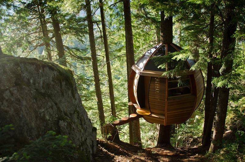 HemLoft secret treehouse hiding in the woods of whistler canada (2)