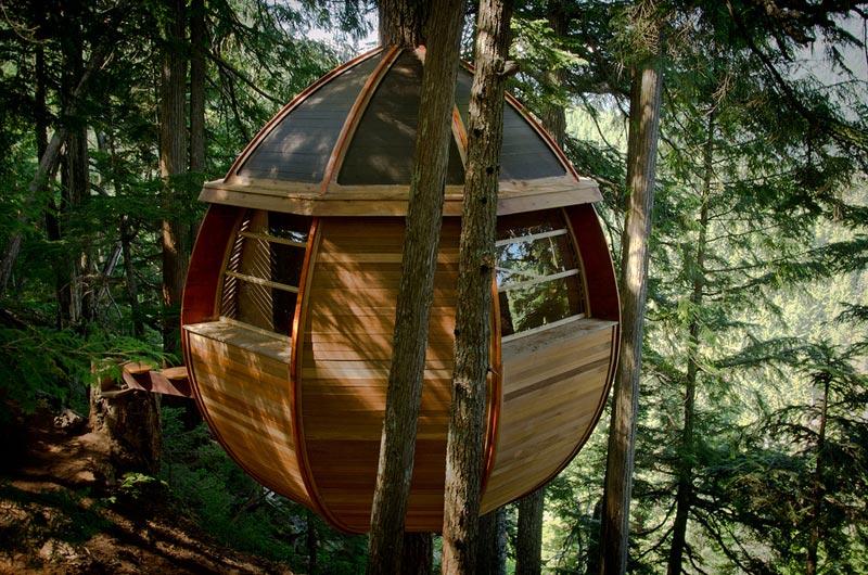 HemLoft secret treehouse hiding in the woods of whistler canada (7)