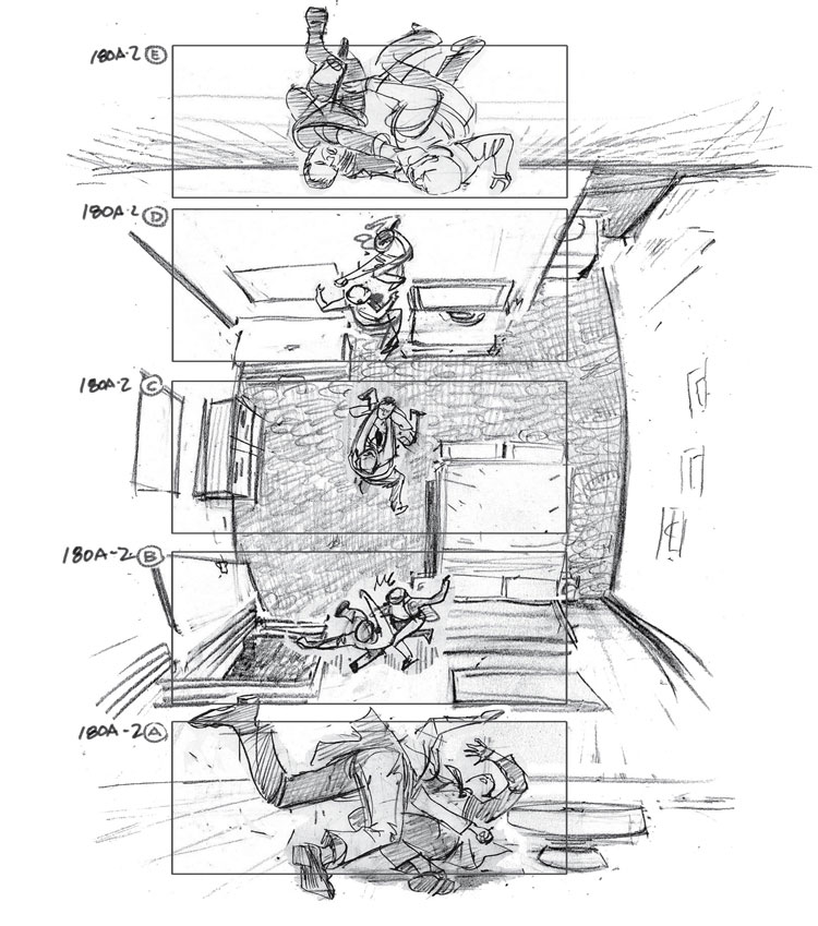 inception storyboard by gabriel hardman Detailed Floor Plans of TV Show Apartments