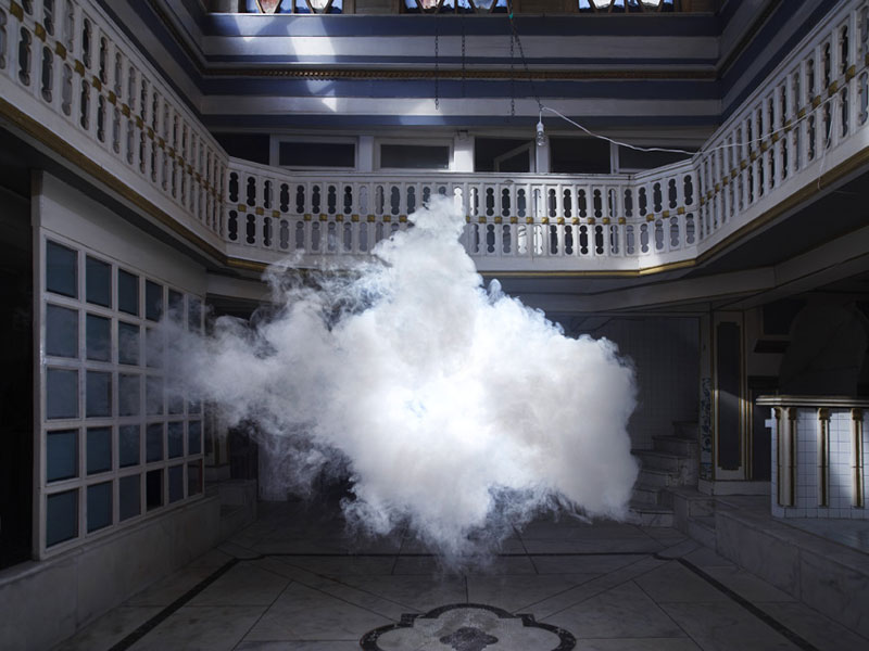 indoor nimbus cloud art installation by berndnaut smilde 1 The Worlds Strongest Artificially Generated Tornado