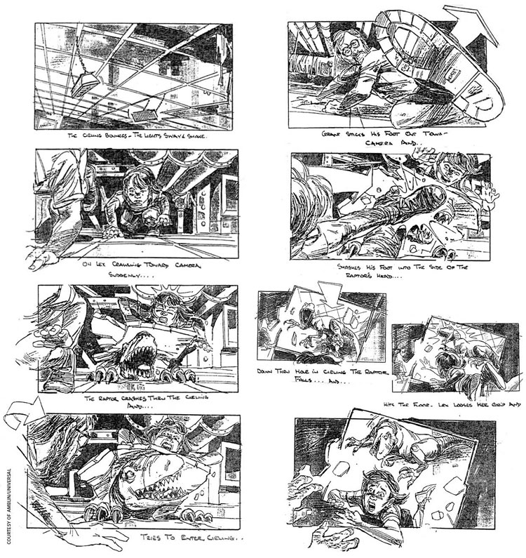 Jurassic Park Storyboard By David Lowery