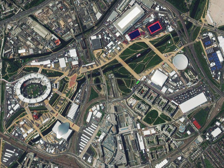 London-UK-7-23-12-Olympic-village digitalglobe satellite image