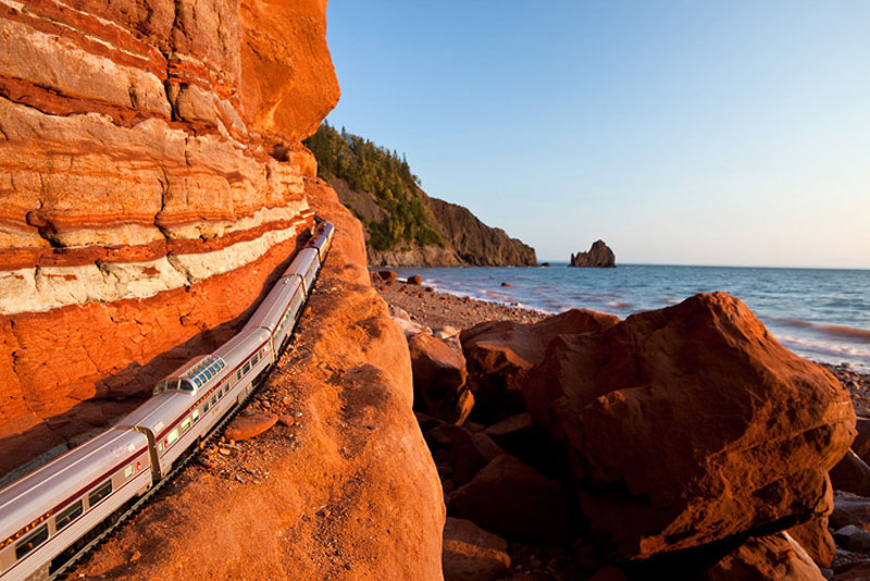 A Model Train Travels Across Canada