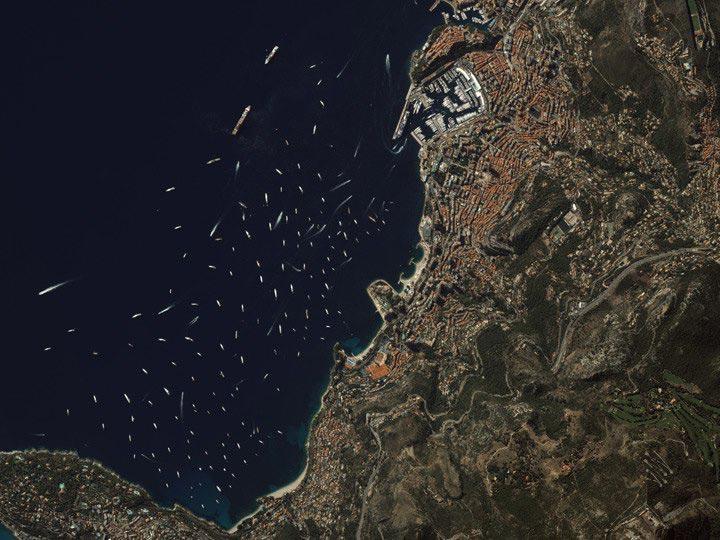Monte-Carlo-Monaco-9 22 12-annual-yacht-show digitalglobe satellite image