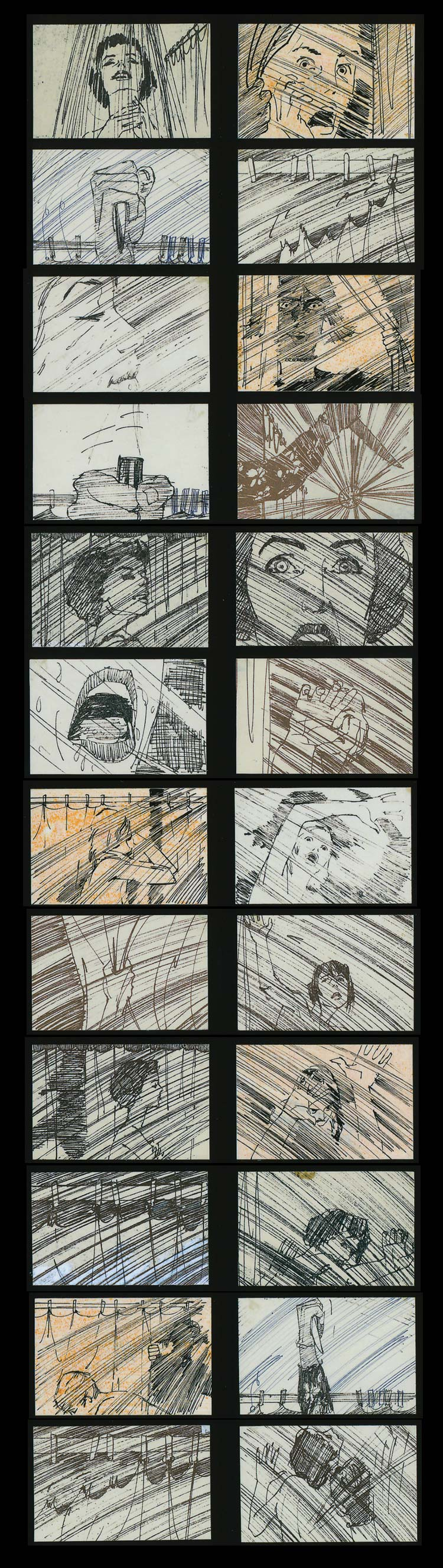 psycho storyboard Storyboards from Ten Popular Films