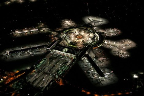 SFO-san-franscisco-airport-at-night-aerial