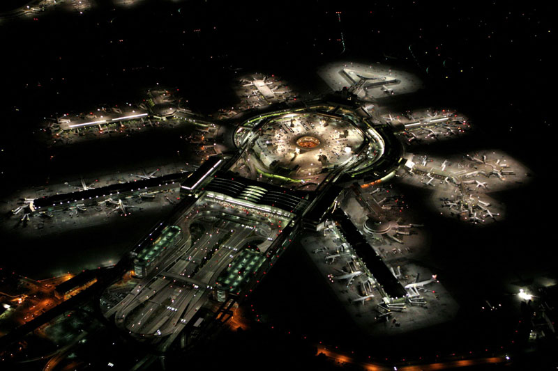 SFO-san-franscisco-airport-at-night-aerial