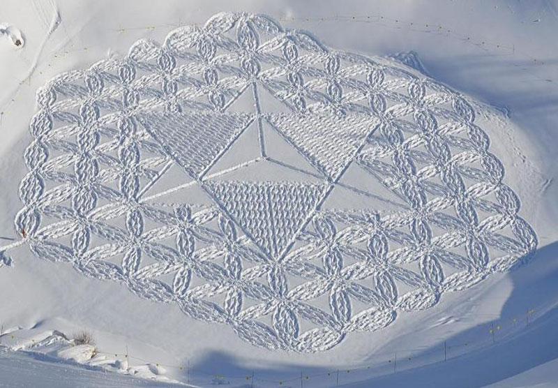 snowshoe land art simon beck (1)