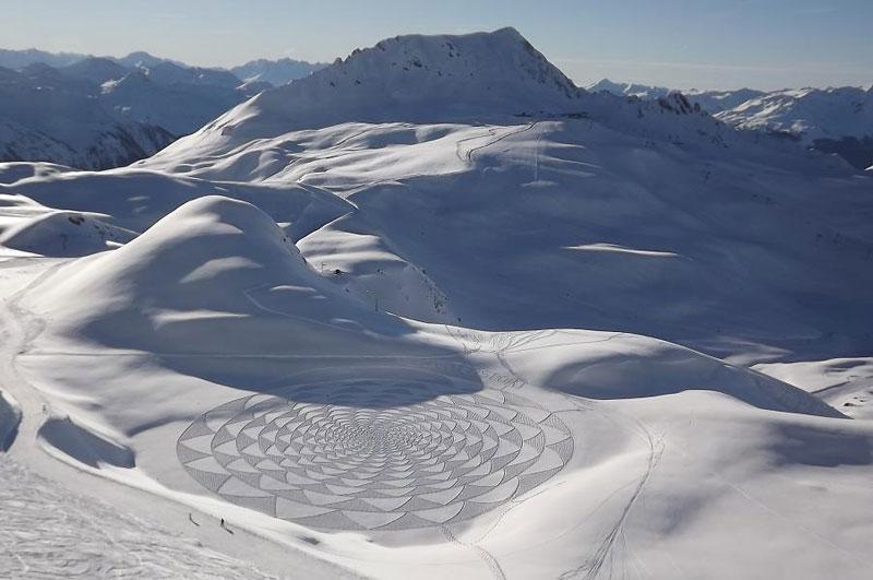 snowshoe land art simon beck (12)
