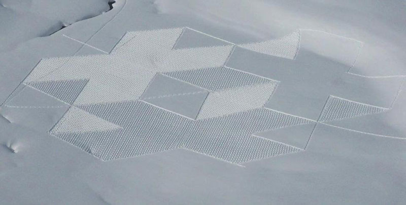 snowshoe land art simon beck (15)