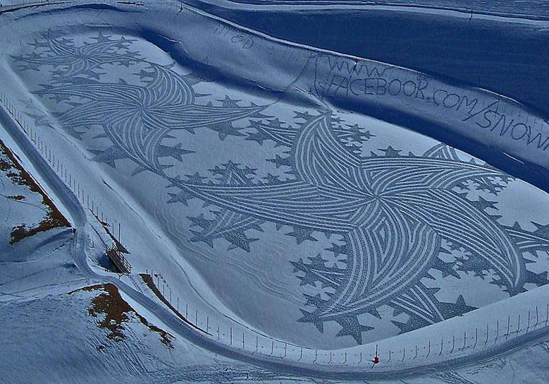 snowshoe land art simon beck (16)