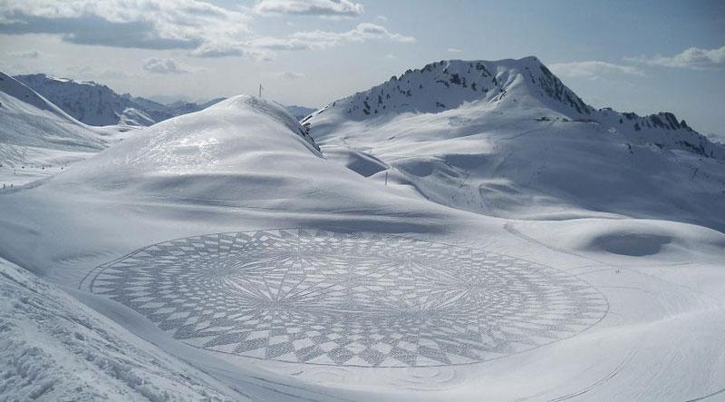 snowshoe land art simon beck (18)