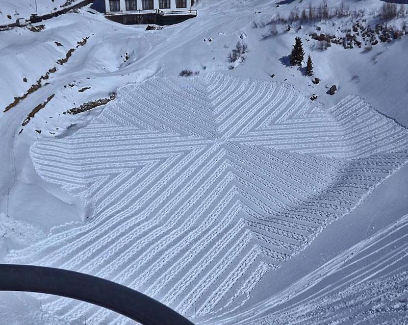snowshoe land art simon beck (20)