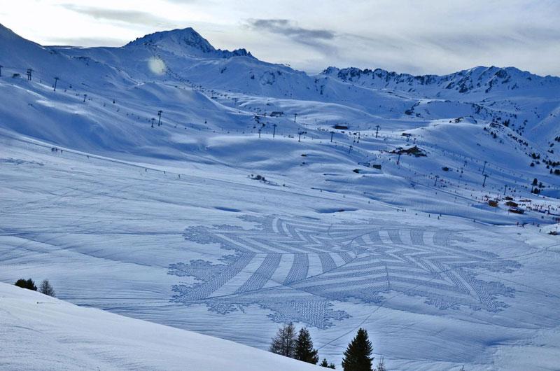 snowshoe land art simon beck (4)