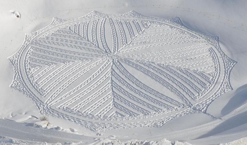snowshoe land art simon beck (6)