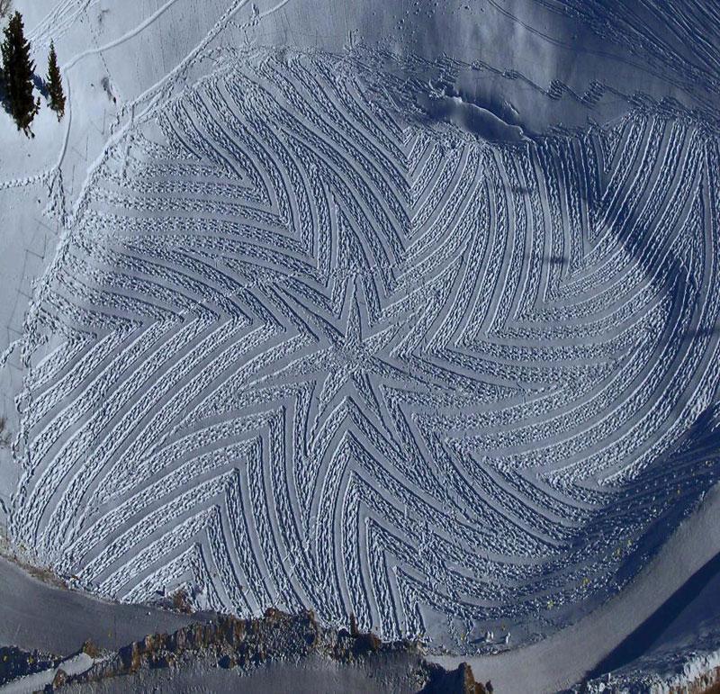 snowshoe land art simon beck (9)