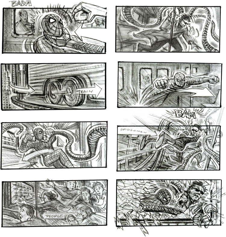 spiderman-2-storyboard-by-Chris-Buchinsky