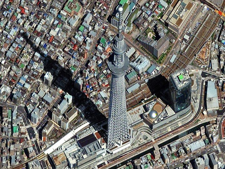 Tokyo-Japan-4-07-12-Skytree,-tallest-self-supported-structure-in-Asia digitalglobe satellite image