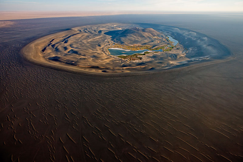 volcanic crater of wau al namus libya aerial from above george steinmetz
